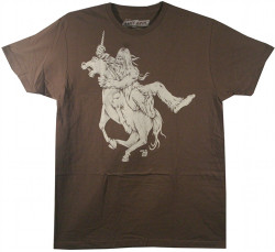 Image Closeup for Ames Bros Bigfoot vs Unicorn T-Shirt