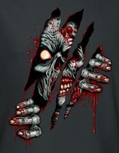 Image for Zombie T-Shirt - Clawing Free