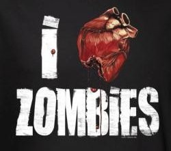Image for Zombie T-Shirt - I Heart Zombies
