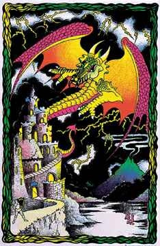 Image for Dragon Castle Blacklight Poster