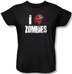 Image for Zombie T-Shirt - I Heart Zombies Womens