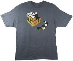 Image Closeup for Ames Bros Rubic's Cube Cheater T-Shirt