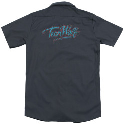 Image for Teen Wolf Dickies Work Shirt - Neon Logo