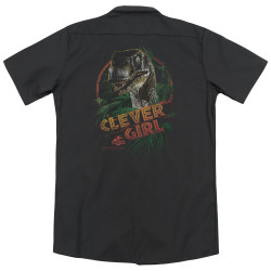Image for Jurassic Park Dickies Work Shirt - Clever Girl