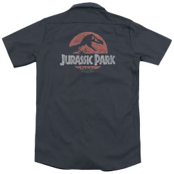 Image for Jurassic Park Dickies Work Shirt - Faded Logo