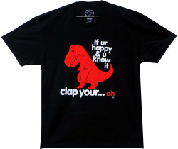 Image Closeup for T-Rex If UR Happy & You Know it T-Shirt