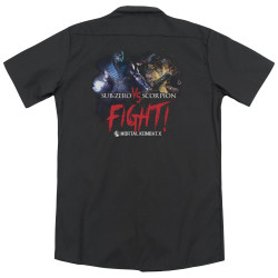 Image for Mortal Kombat Dickies Work Shirt - Fight
