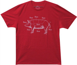Image Closeup for Bacon T-Shirt - Where Bacon Comes From
