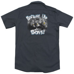 Image for Three Stooges Dickies Work Shirt - Bottoms Up