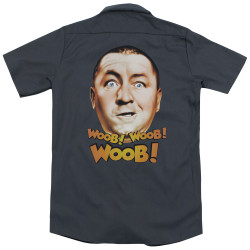 Image for Three Stooges Dickies Work Shirt - Woob Woob Woob