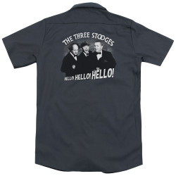 Image for Three Stooges Dickies Work Shirt - Hello Again