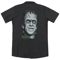 Image for The Munsters Dickies Work Shirt - Herman'S Head