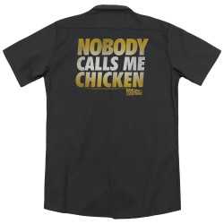 Image for Back To The Future Dickies Work Shirt - Chicken