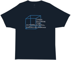Image for Think Outside the Quadrilateral Parallelogram T-Shirt