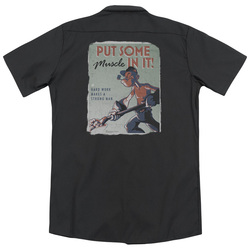 Image for Popeye Dickies Work Shirt - Hard Work