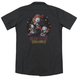 Image for Killer Klowns From Outer Space Dickies Work Shirt - Killer Klowns