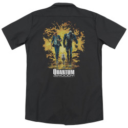 Image for Quantum And Woody Dickies Work Shirt - Explosion