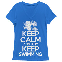 Image for Finding Dory Girls V Neck -Keep Calm