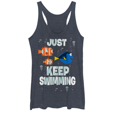 Image for Finding Dory Womens Tank Top - Just Swimming