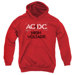 Image for AC/DC Youth Hoodie - High Voltage Stencil