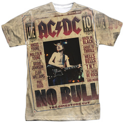 Image for AC/DC Sublimated T-Shirt - No Bull 100% Polyester