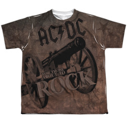 Image for AC/DC Sublimated Youth T-Shirt - We Salute You 100% Polyester