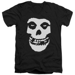 Image for The Misfits V Neck T-Shirt - Fiend Skull