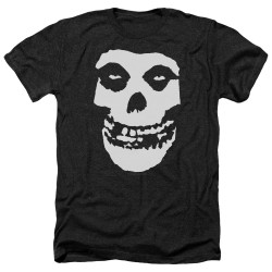 Image for The Misfits Heather T-Shirt - Fiend Skull