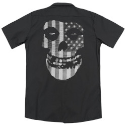 Image for The Misfits Dickies Work Shirt - Fiend Flag