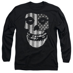 Image for The Misfits Long Sleeve Shirt - Fiend Flag Monochrome