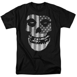 Image for The Misfits T-Shirt - Fiend Flag Monochrome