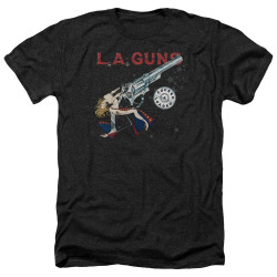 Image for LA Guns Heather T-Shirt - Cocked and Loaded