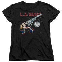 Image for LA Guns Womans T-Shirt - Cocked and Loaded