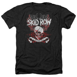 Image for Skid Row Heather T-Shirt - Winged Skull