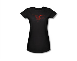 Image Closeup for The Hobbit Girls T-Shirt - Smaug