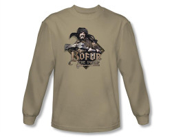 Image Closeup for The Hobbit Bofur the Dwarf long sleeve T-Shirt