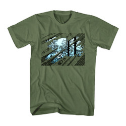 Image for MC Escher Puddle Tracks T-Shirt