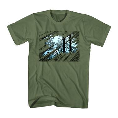 Image for MC Escher Puddle Tracks T-Shirt