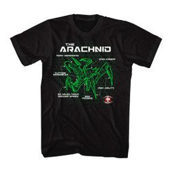 Image for Starship Troopers Bug Schematic T-Shirt