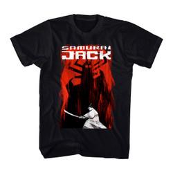 Image for Samurai Jack Jack and Aku Distressed Sides T-Shirt