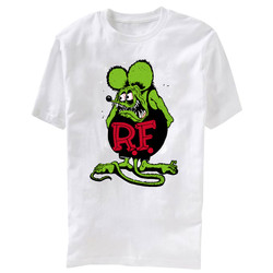 Image for Rat Fink Distressed White T-Shirt