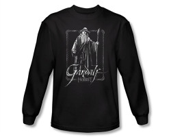 Image Closeup for The Hobbit Gandalf Stare long sleeve T-Shirt