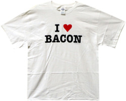 Image Closeup for Bacon T-Shirt - I Love Bacon