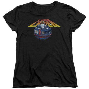 Image for Atari Woman's T-Shirt - Lunar Lander Globe