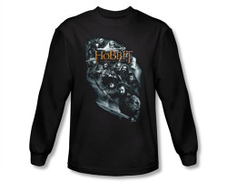 Image Closeup for The Hobbit Cast of Characters long sleeve T-Shirt