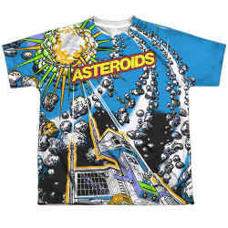 Image for Atari Sublimated Youth T-Shirt - Asteroids All Over 100% Polyester