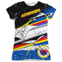Image for Atari Girls Sublimated T-Shirt - Asteroids Arcade 100% Polyester