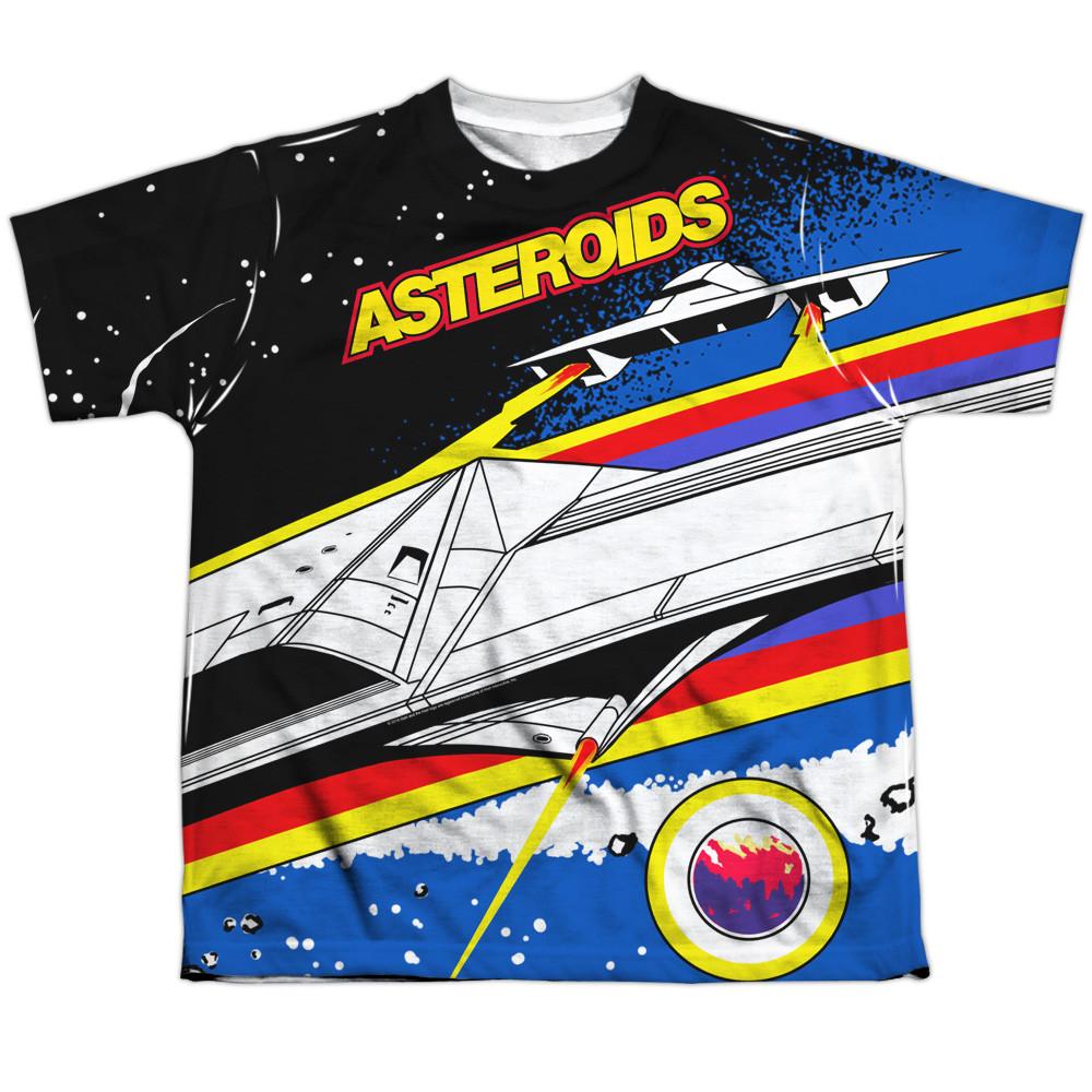b60def28e6fc Atari Youth T-Shirt - Sublimated Asteroids Arcade - NerdKungFu