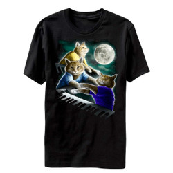 Image for Keyboard Cat Moon T-Shirt