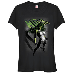 Image for She-Hulk Juniors T-Shirt - Incredible Shadow